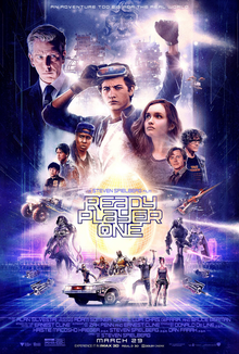 This is a poster for Ready Player One (film). The poster art copyright is believed to belong to the distributor of the film, the publisher of the film or the graphic artist.